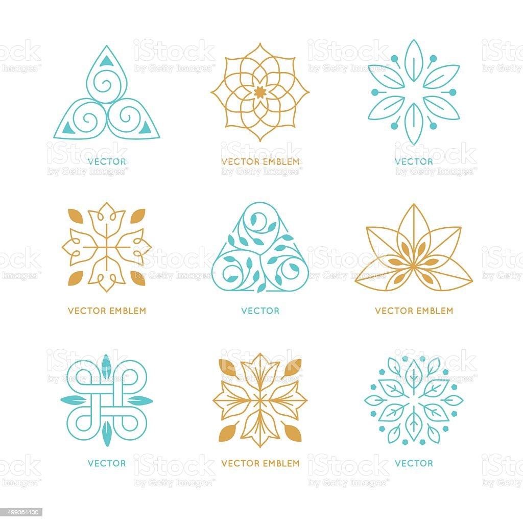Vector set of logo design templates and symbols vector art illustration