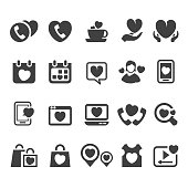 Vector set of love signs