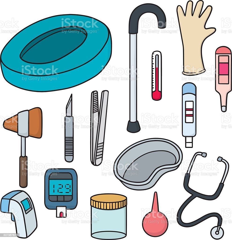 vector set of medical equipment vector art illustration
