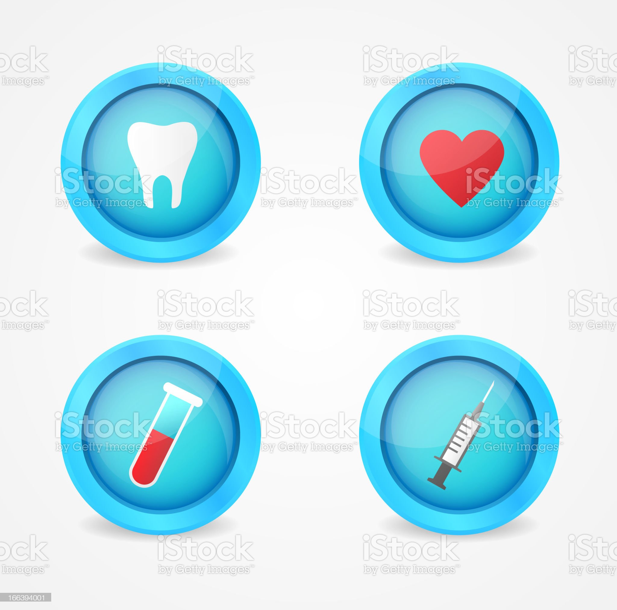 Vector set of medical icons royalty-free stock vector art
