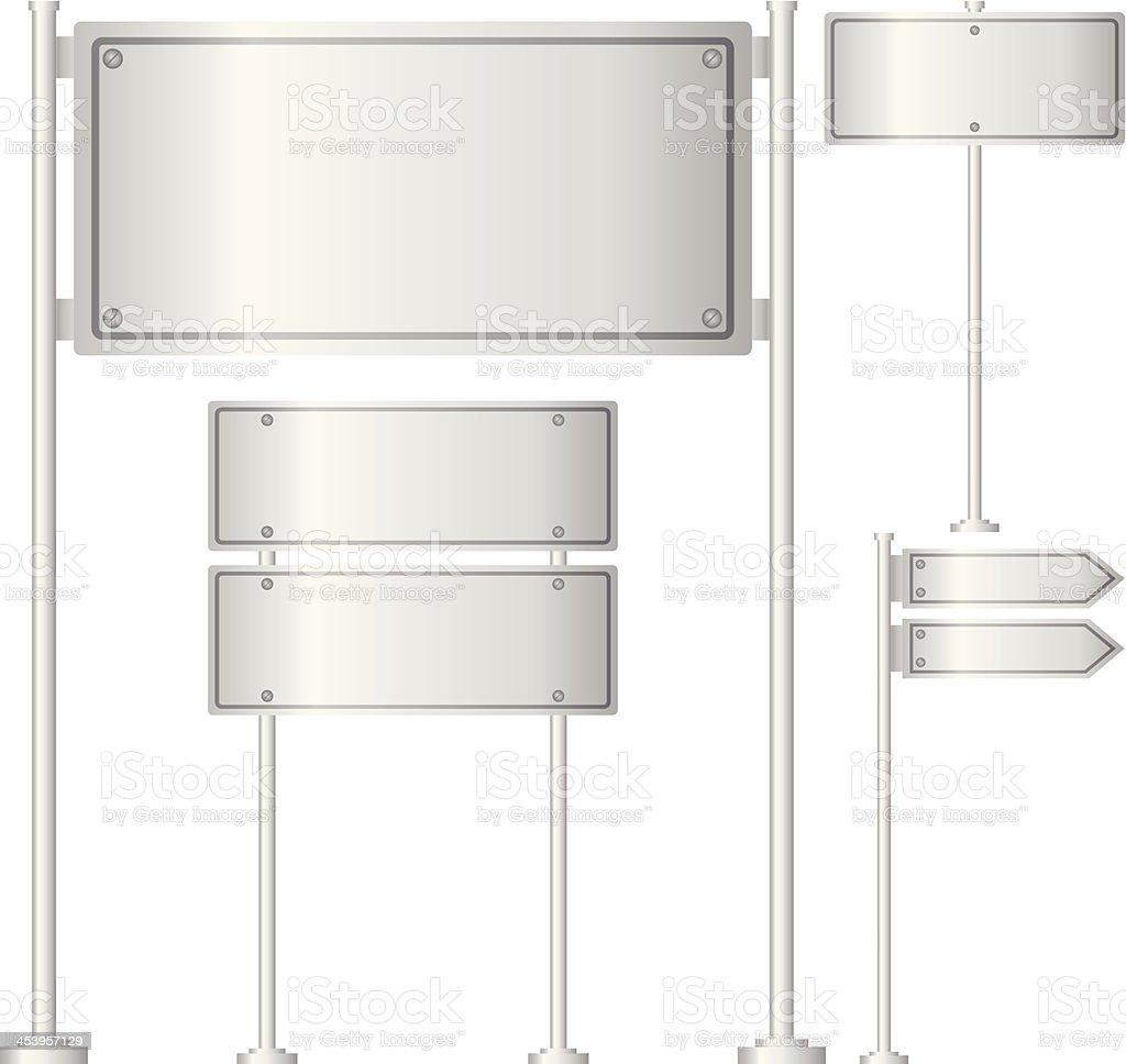 Vector set of metal signpost royalty-free stock vector art