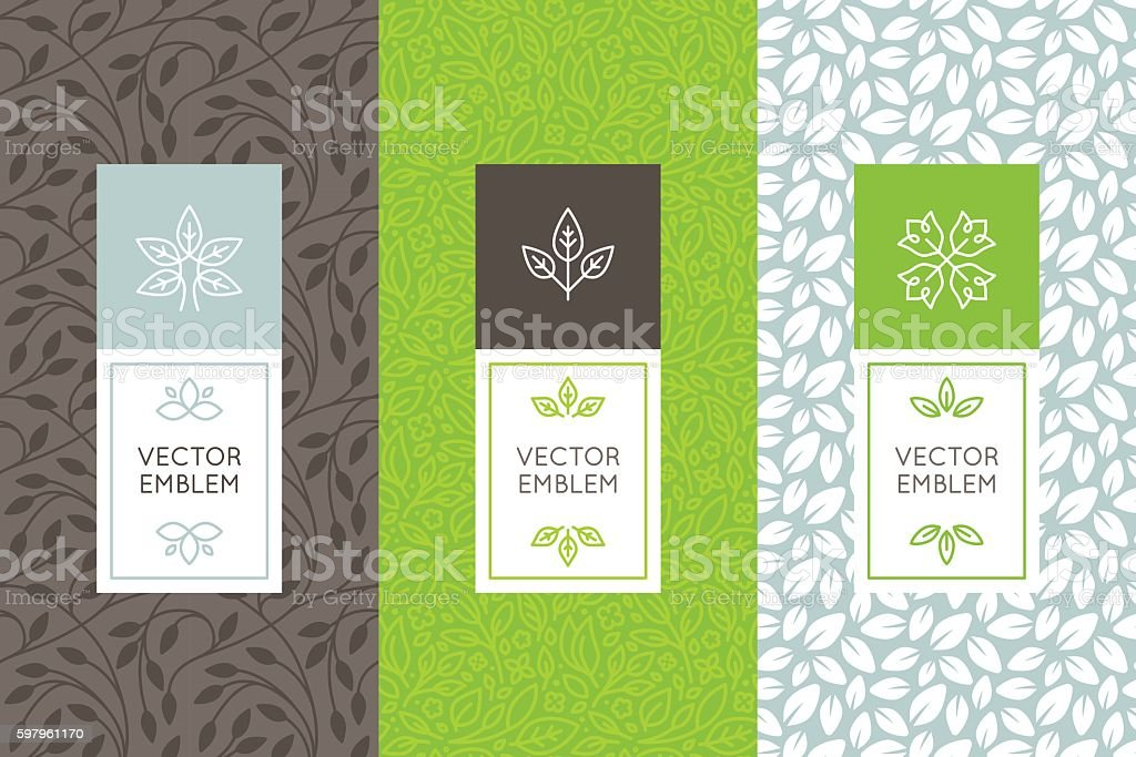 Vector set of packaging design templates vector art illustration