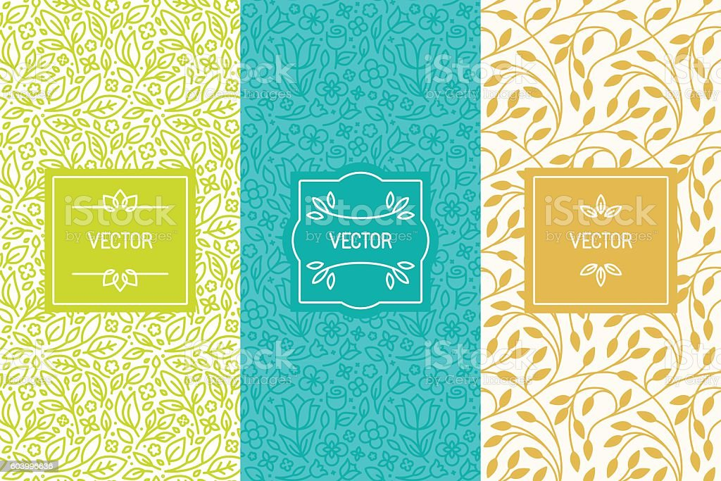 Vector set of packaging design templates vector art illustration