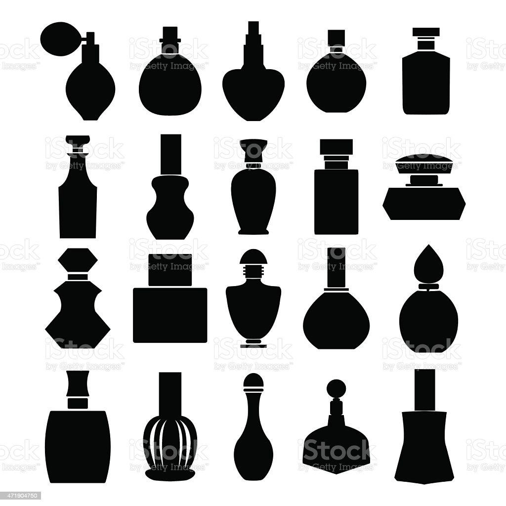 Vector set of perfume bottles - Illustration vector art illustration