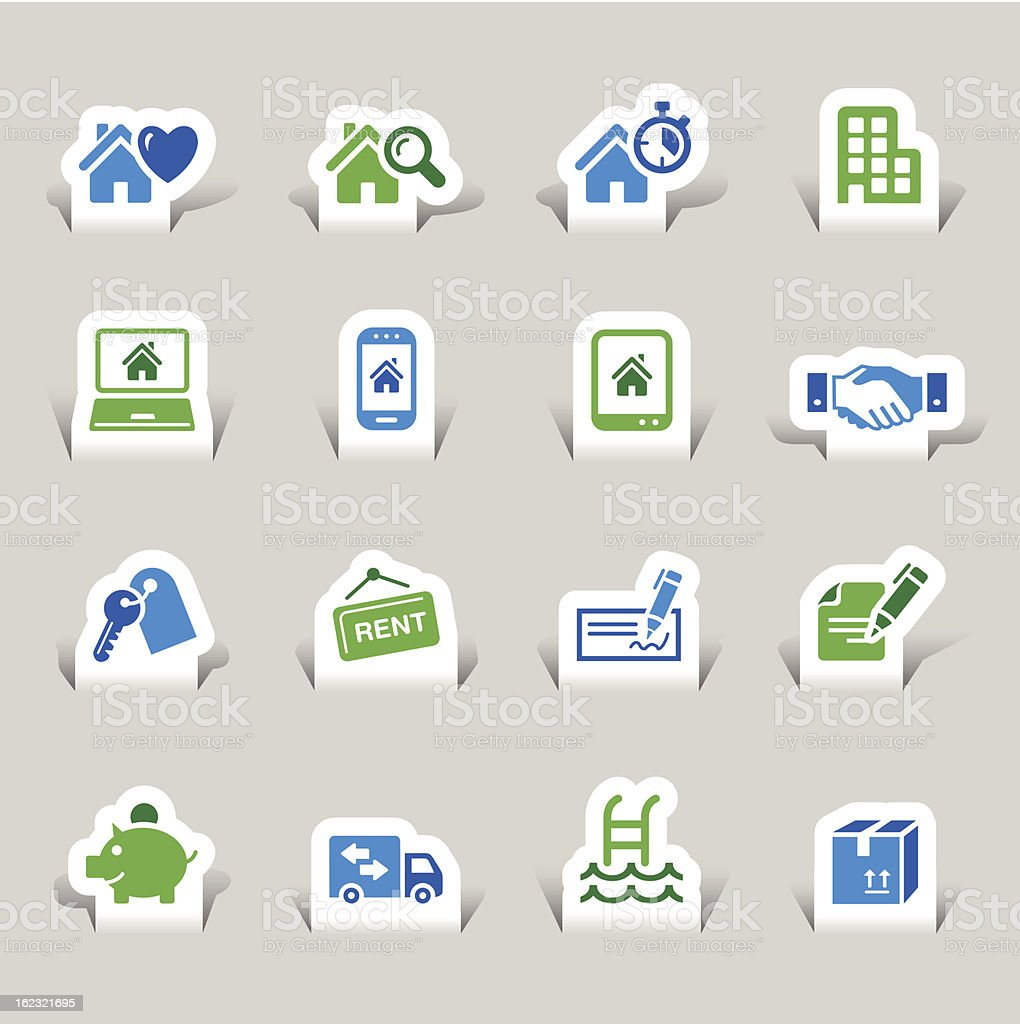 Vector set of real estate icons royalty-free stock vector art