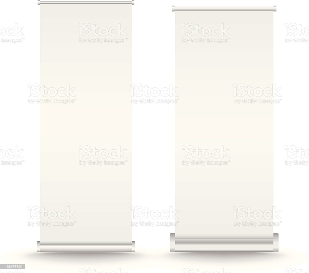 Vector set of roll up banner vector art illustration