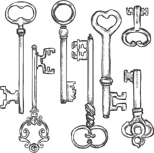 Vector Key Illustration: Skeleton Key Clip Art, Vector Images & Illustrations