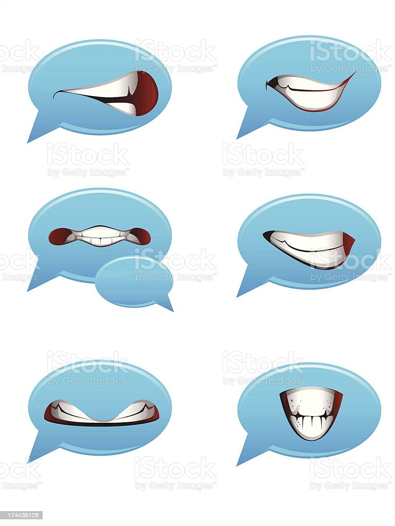Vector set of smile bubbles royalty-free stock vector art