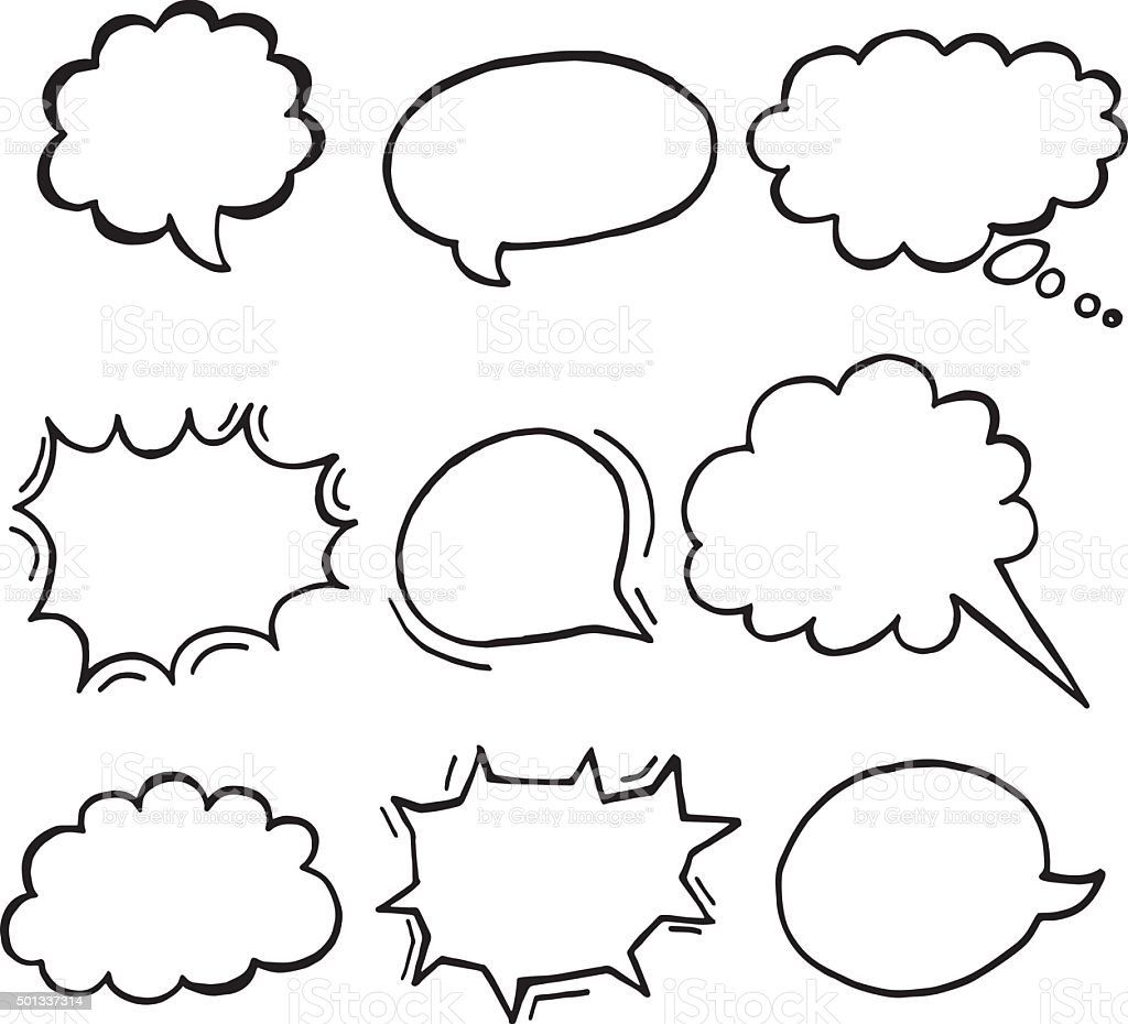 vector set of speech bubbles vector art illustration