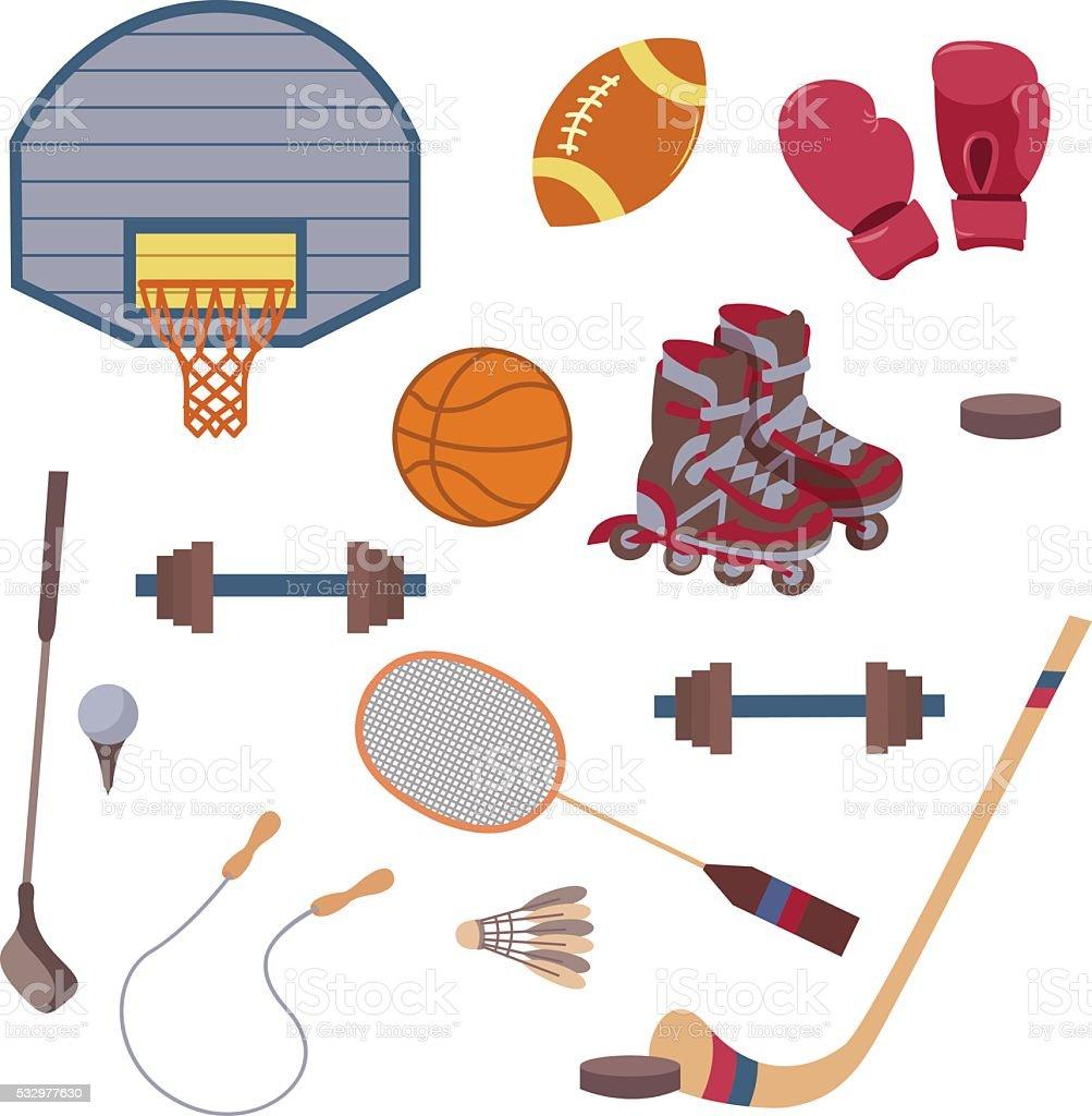 Vecteur de groupe de sport objets stock vecteur libres de droits libre de droits