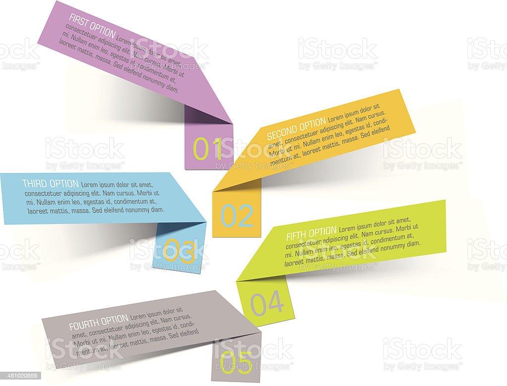 Vector set of sticker banners vector art illustration