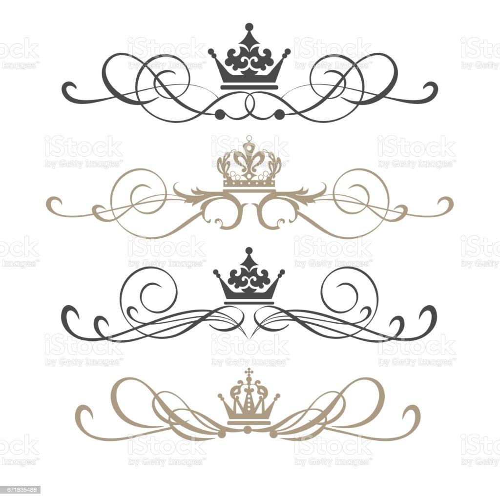 Vector set of vintage style elements for wedding design vector art illustration