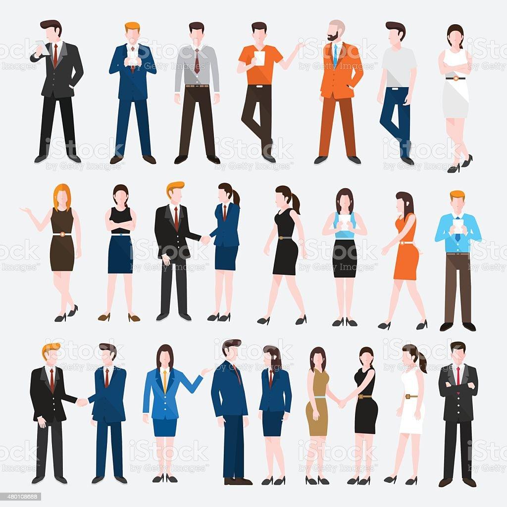 Vector set people business vector art illustration