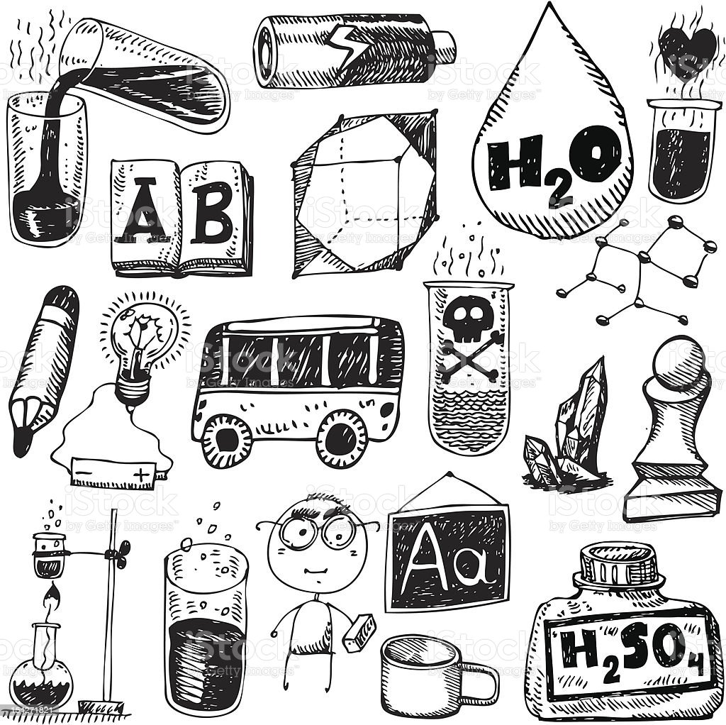 vector set - school and science royalty-free stock vector art