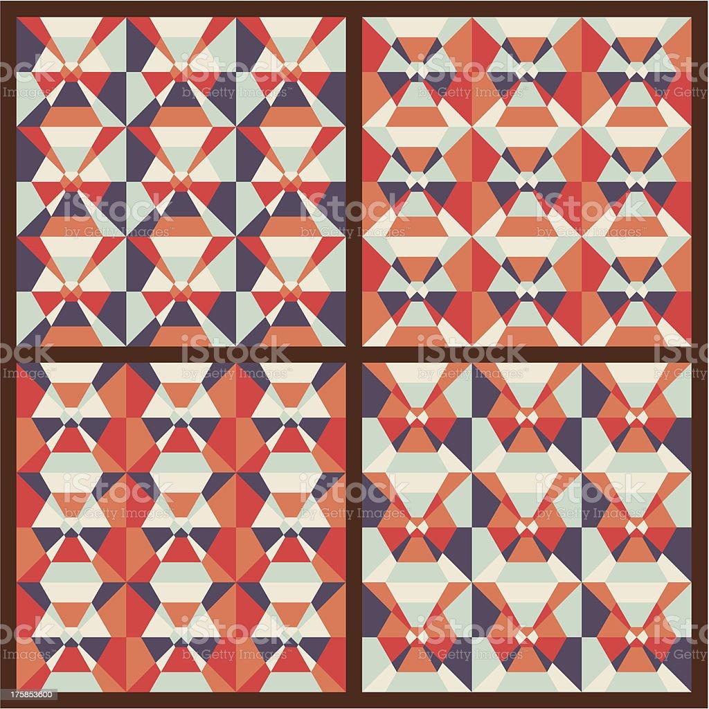 Vector set: seamless geometric patterns royalty-free stock vector art