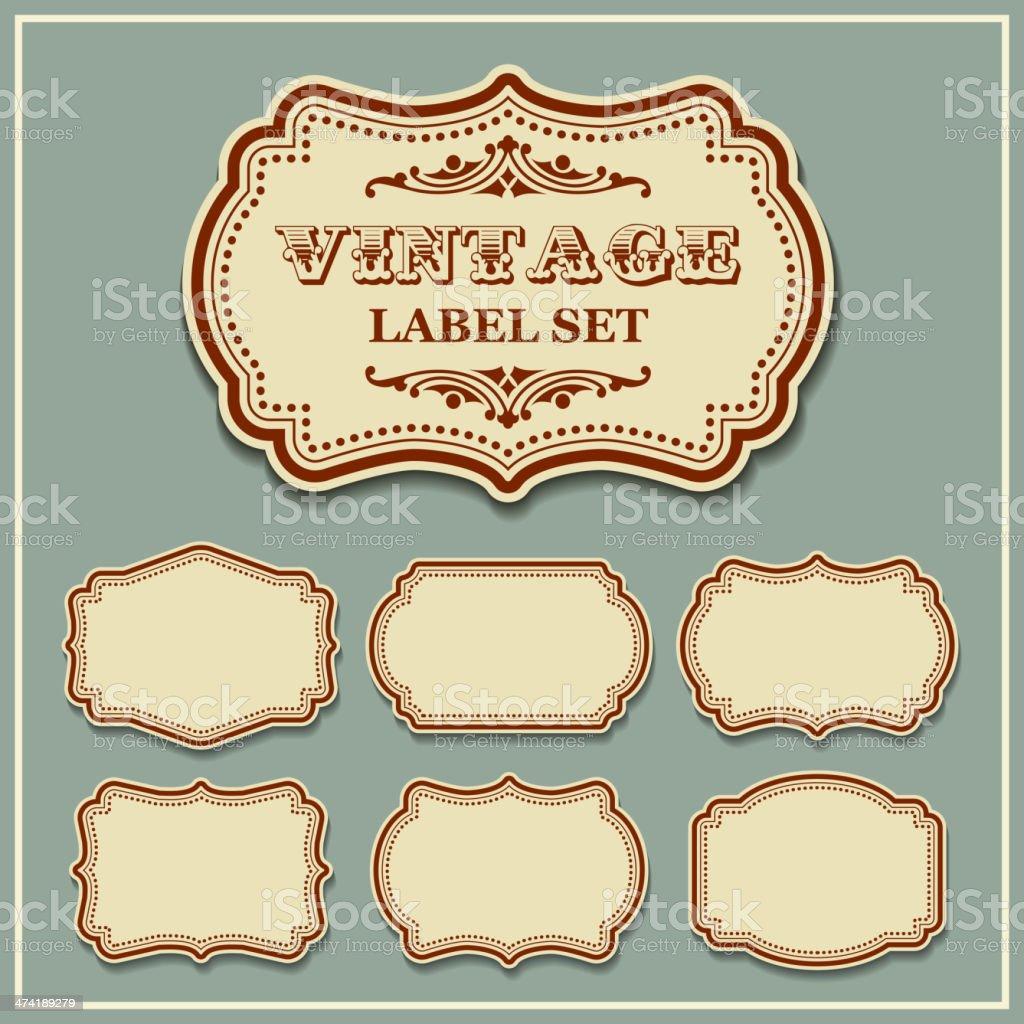 Vector set vintage labels vector art illustration