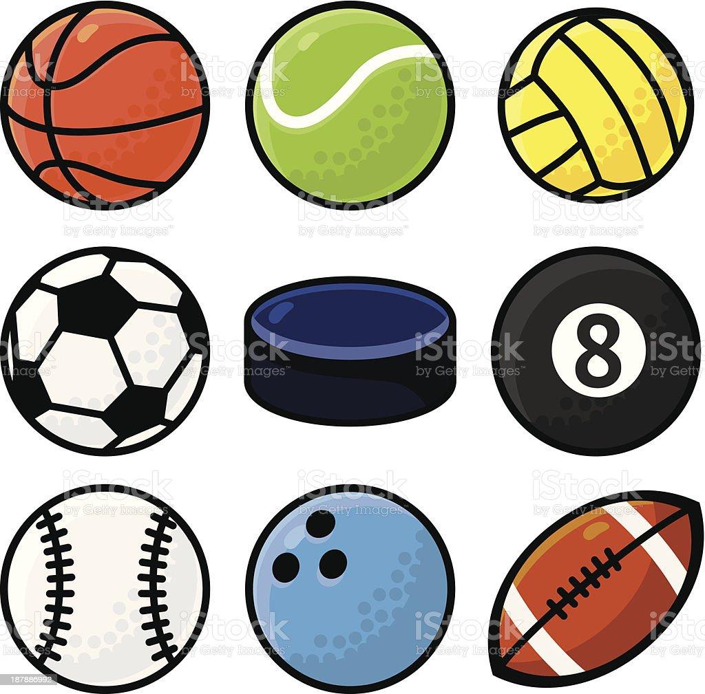 Vector set with sport balls royalty-free stock vector art