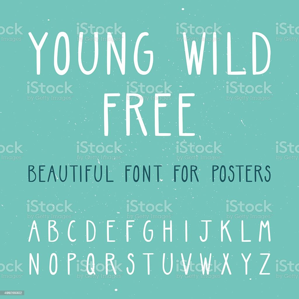 Vector set with thin letters. Trendy alphabet. vector art illustration