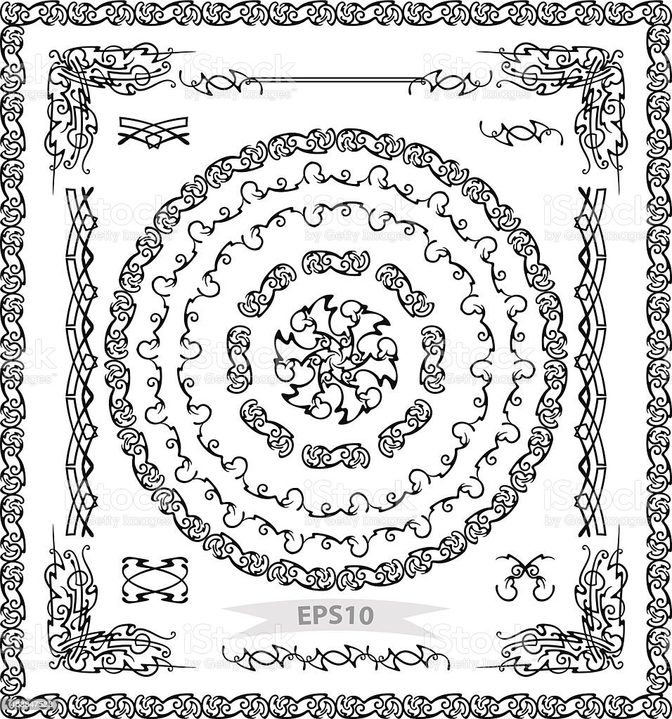 Vector set,black royalty-free stock vector art