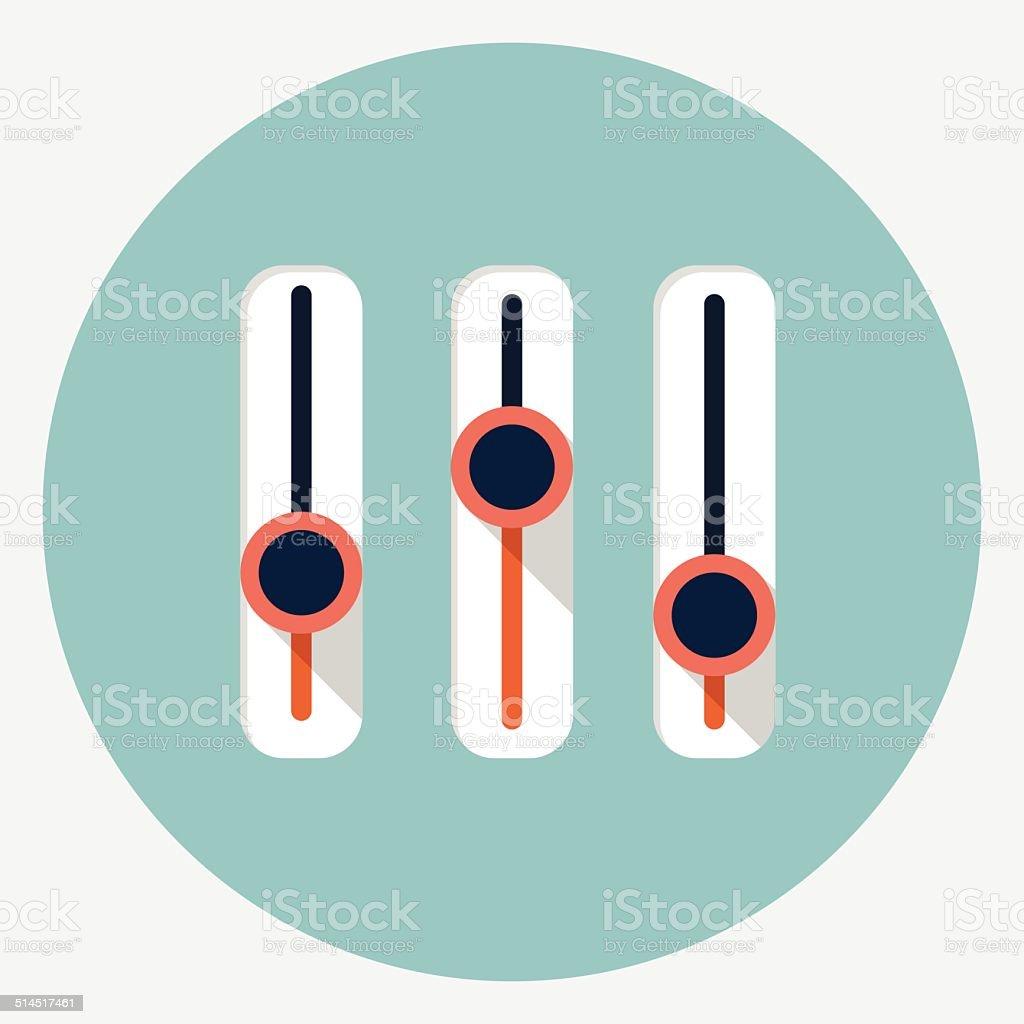 Vector settings icon vector art illustration