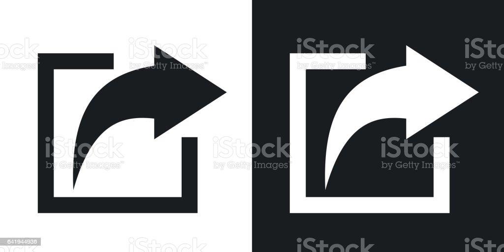 Vector share icon. Two-tone version vector art illustration