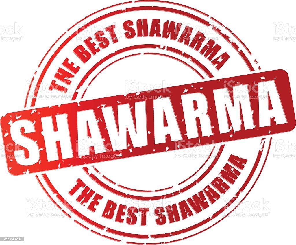 Vector shawarma stamp vector art illustration