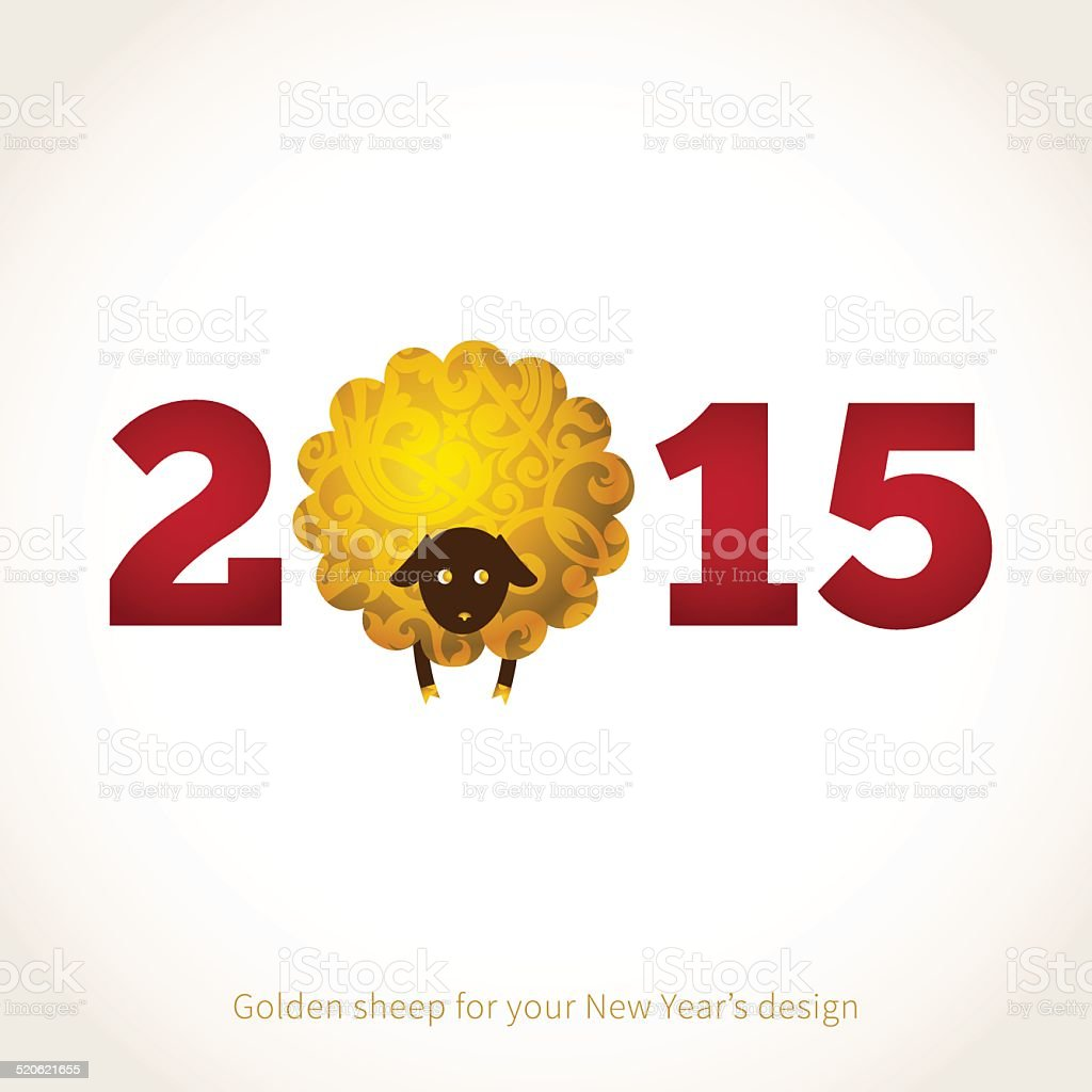 Vector sheep, symbol of 2015 on the Chinese calendar. vector art illustration