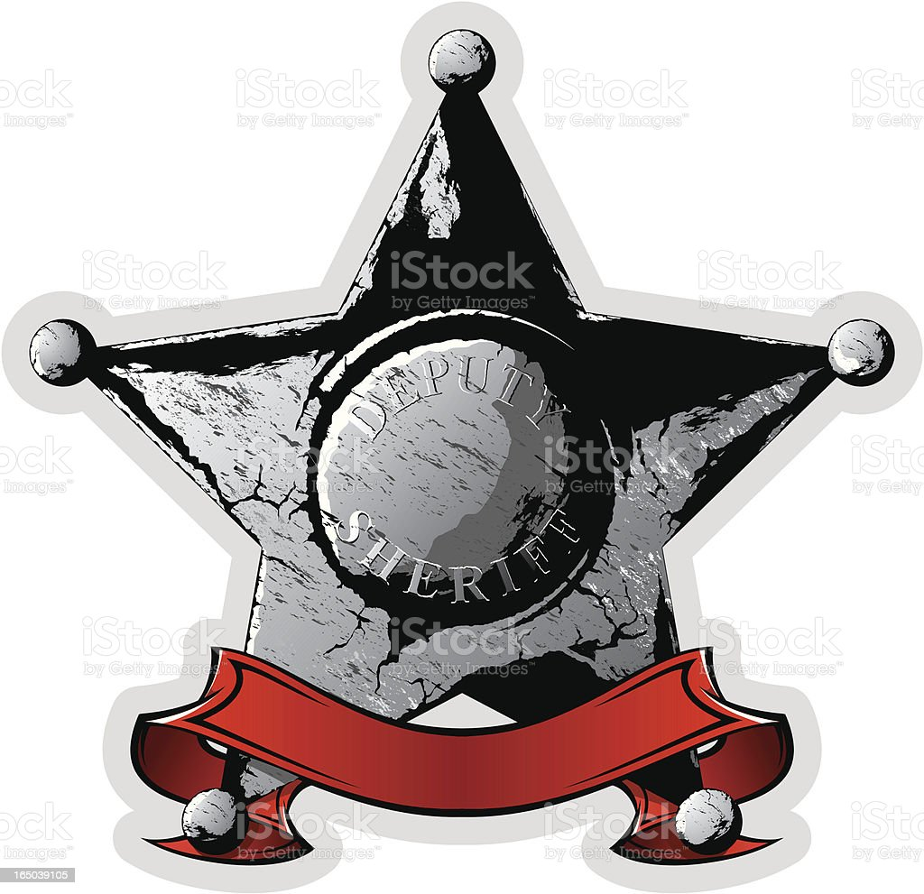 vector sheriff star royalty-free stock vector art