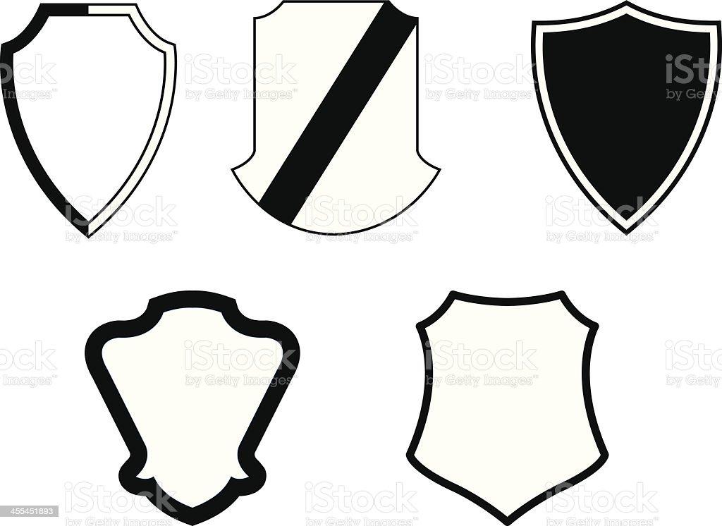 Vector Shield Crests royalty-free stock vector art