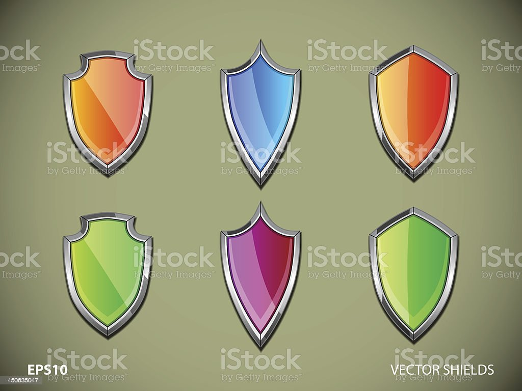 Vector shields royalty-free stock vector art