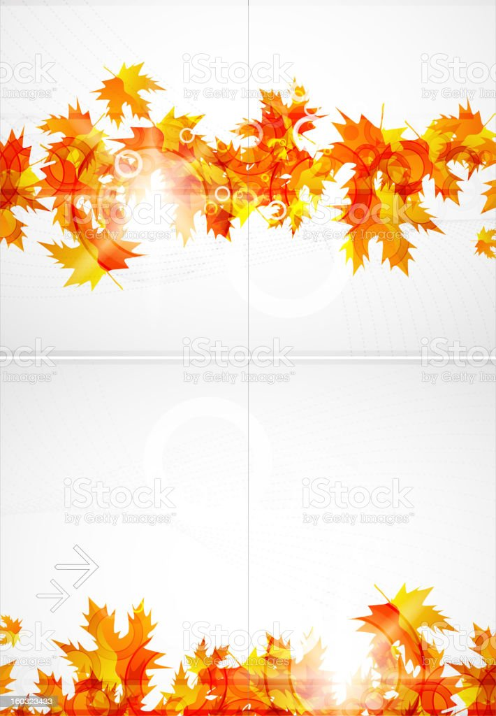Vector shiny autumn leaves background royalty-free stock vector art