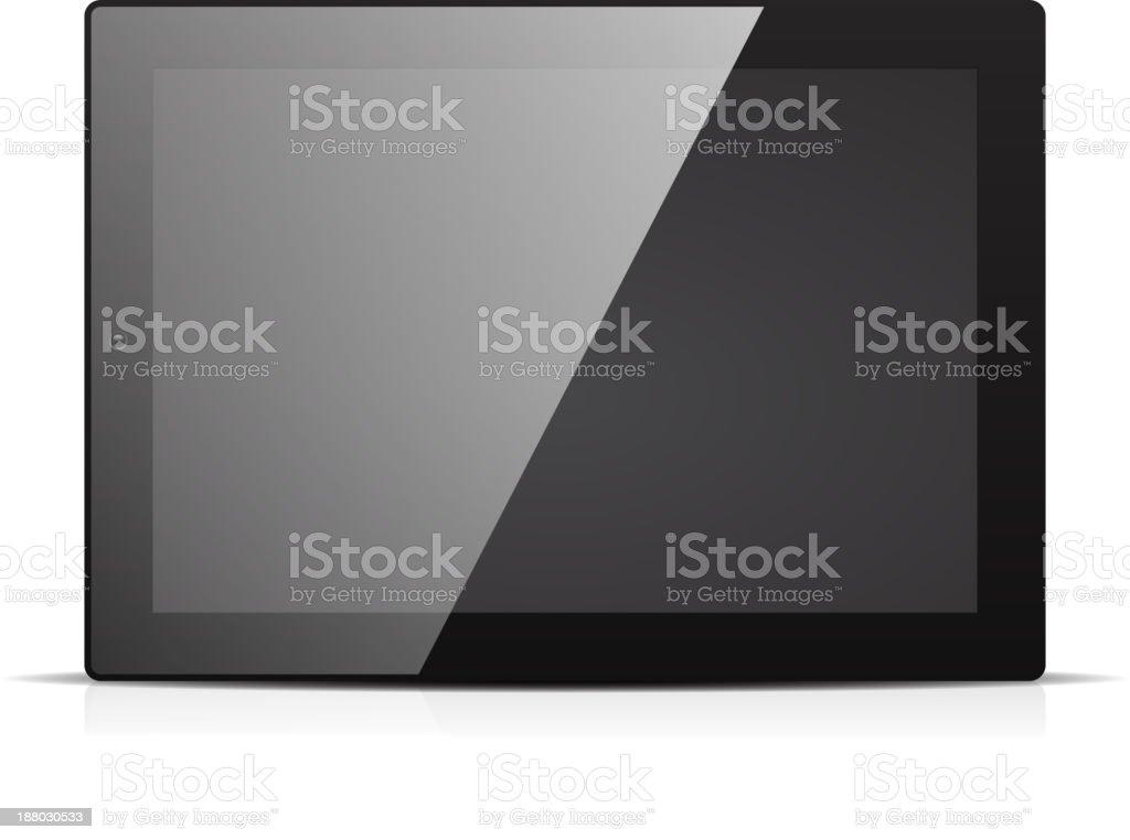 Vector shiny black tablet pc royalty-free stock vector art
