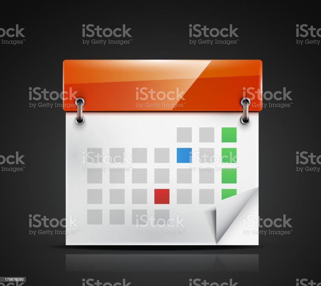 Vector shiny calendar icon royalty-free stock vector art