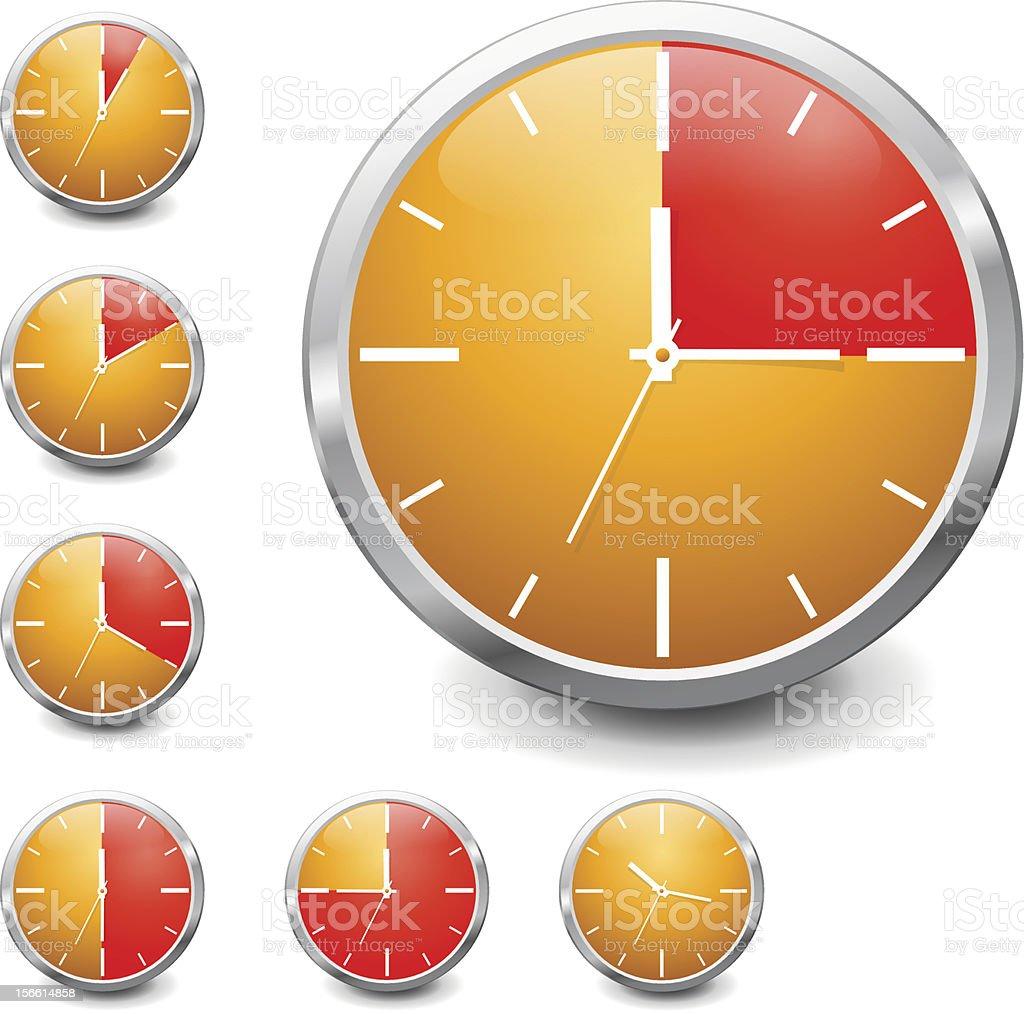 Vector shiny timer royalty-free stock vector art