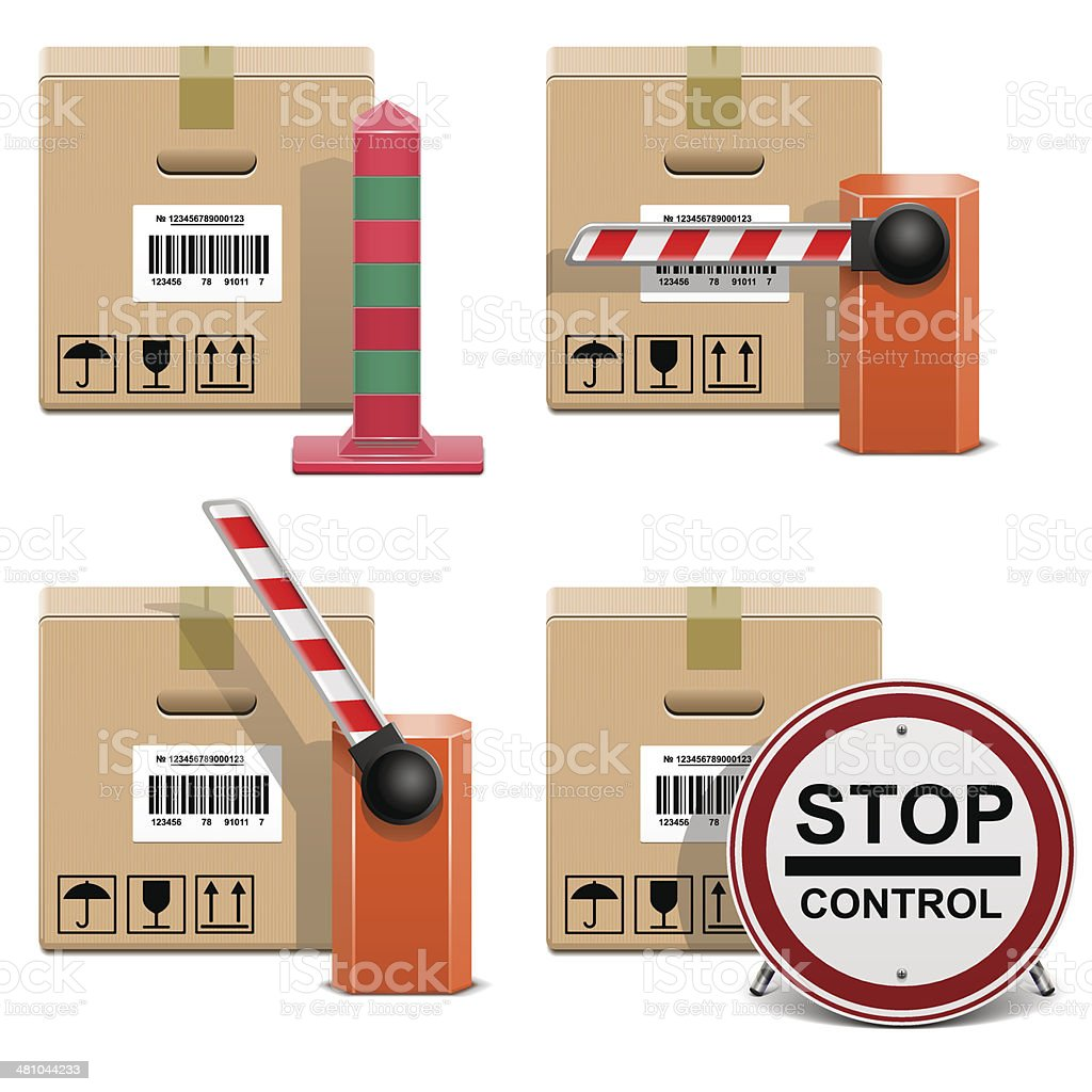 Vector Shipment Icons Set 22 royalty-free stock vector art