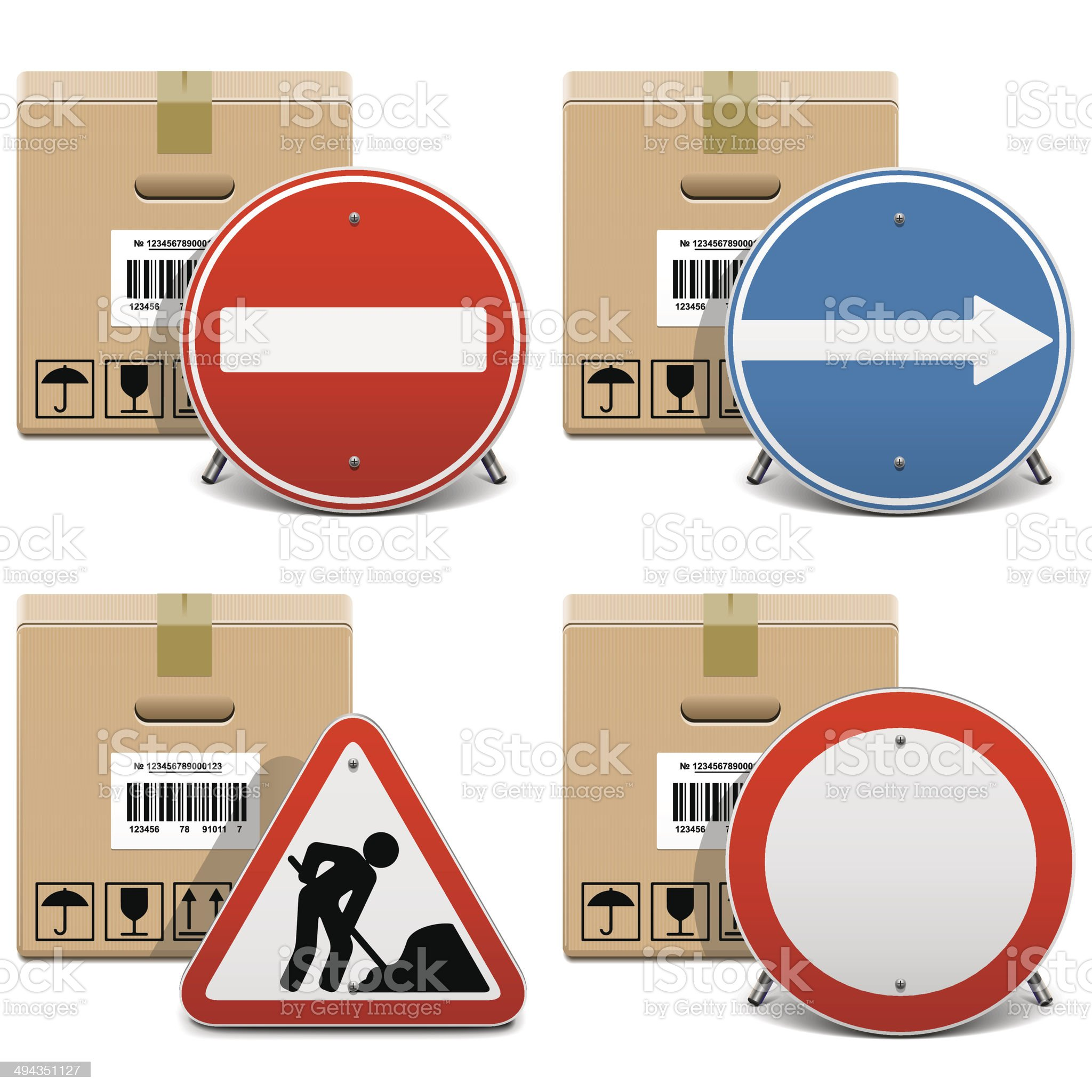 Vector Shipment Icons Set 23 royalty-free stock vector art