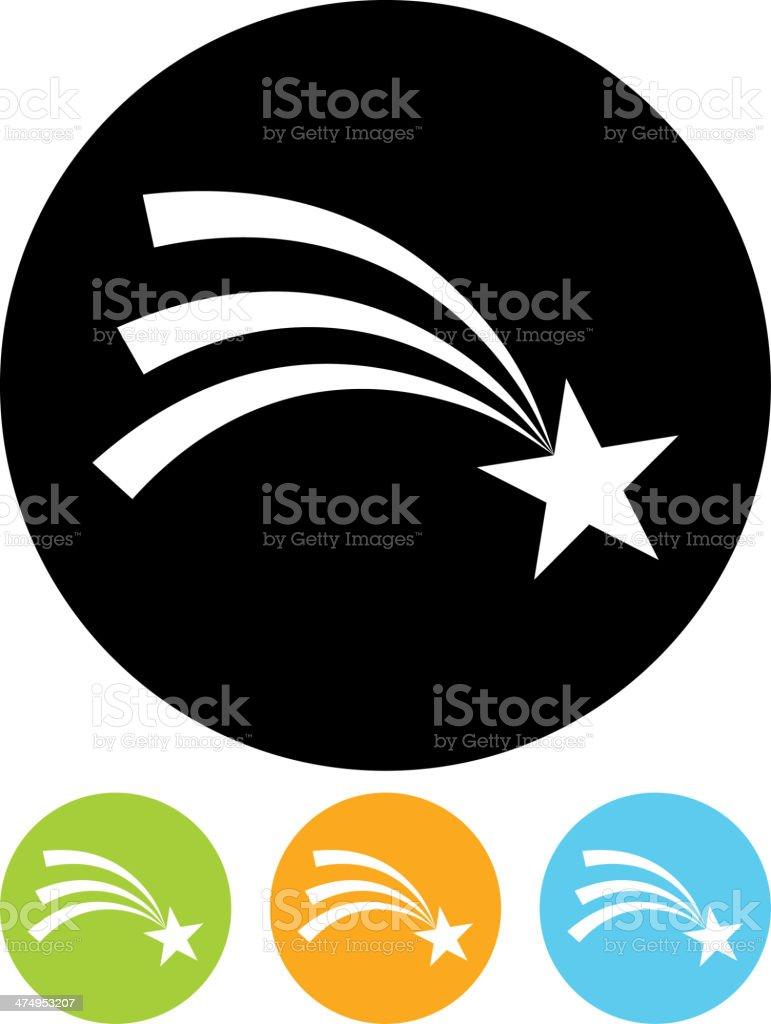 Vector Shooting star icon vector art illustration