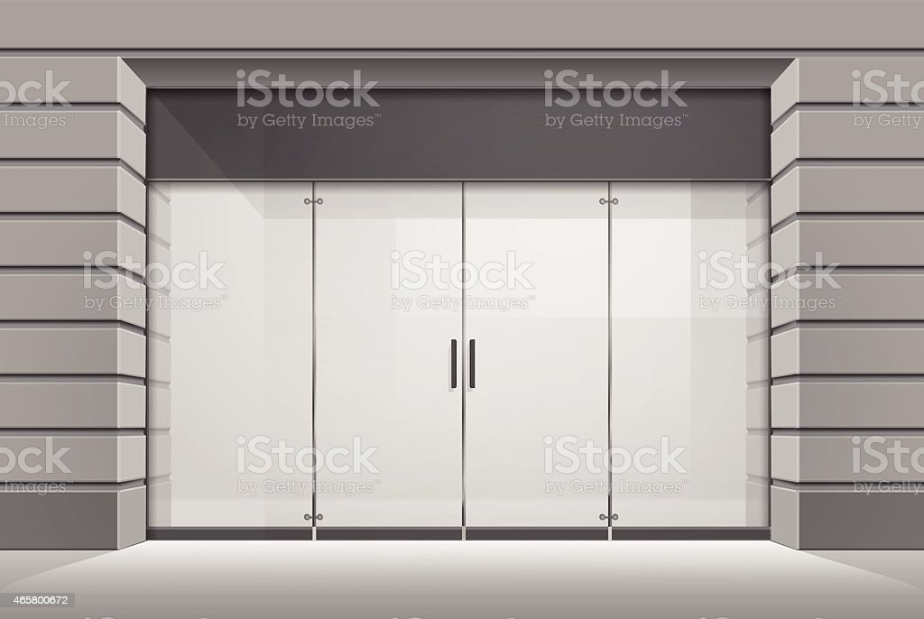 Vector Shop Boutique Store Front vector art illustration