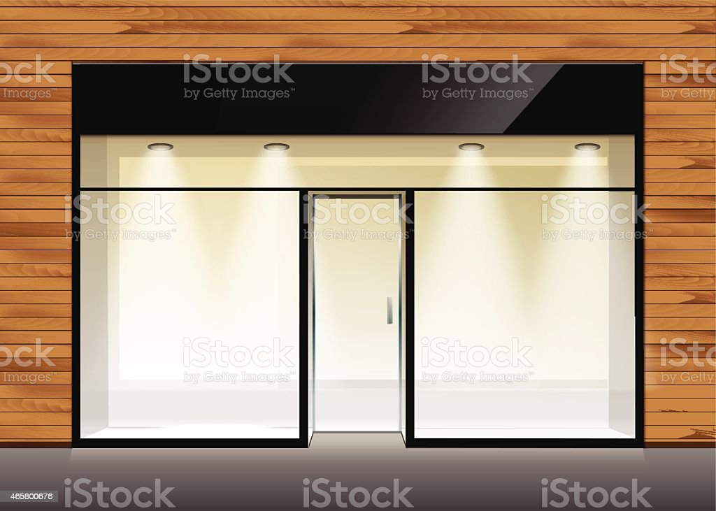 Vector Shop Boutique Store Front vector art illustration