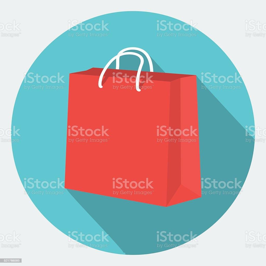 Vector shopping bag Icon vector art illustration