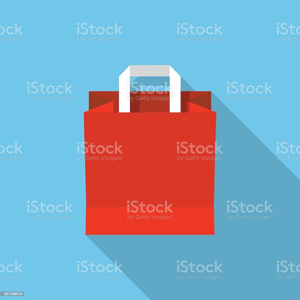 Vector shopping bag vector art illustration