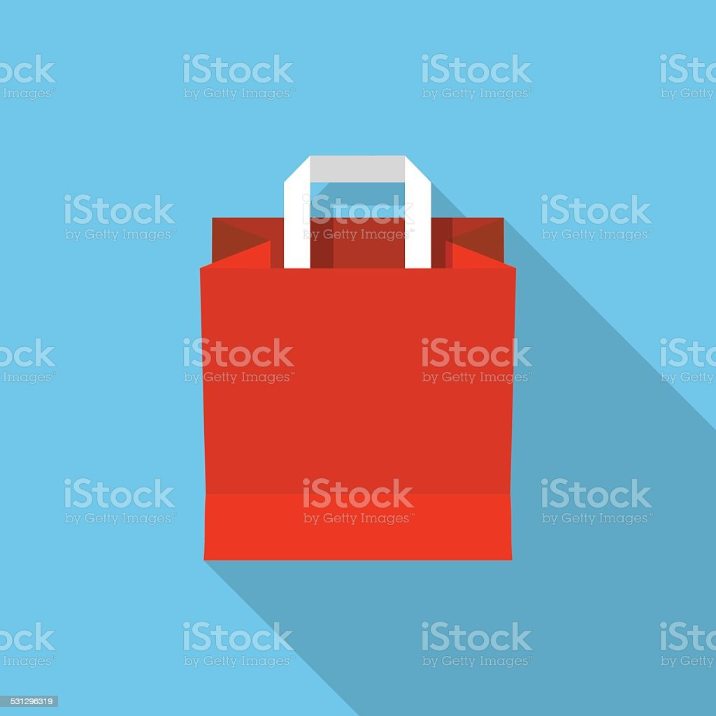 Vector shopping bag vector art illustration