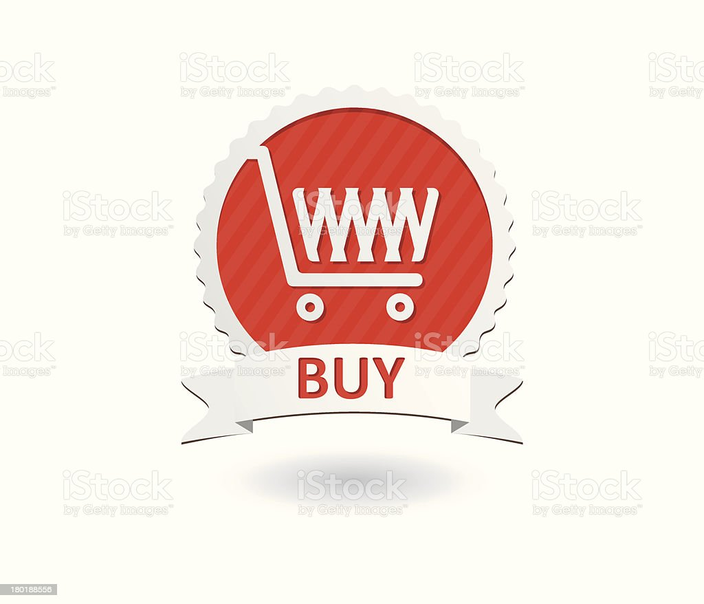 Vector shopping cart - buy icons royalty-free stock vector art