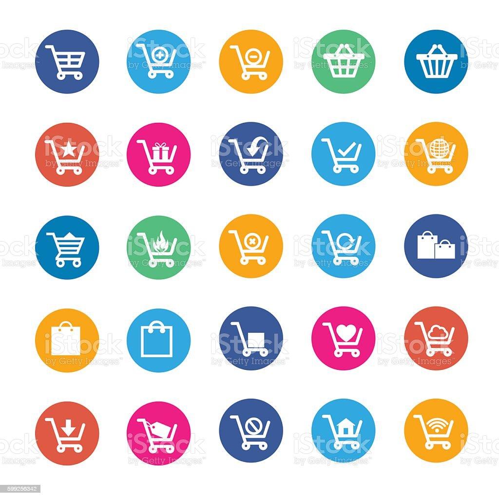 Vector shopping icon vector art illustration