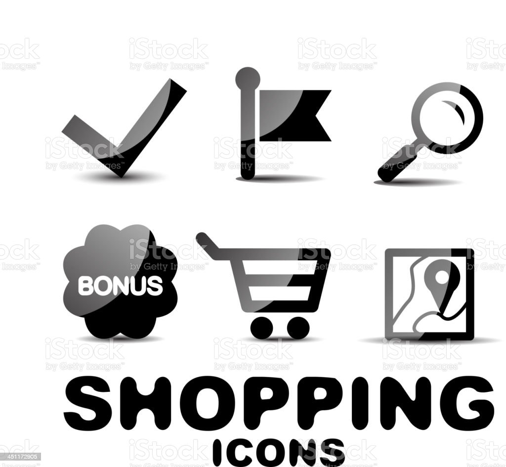 Vector shopping icons royalty-free stock vector art