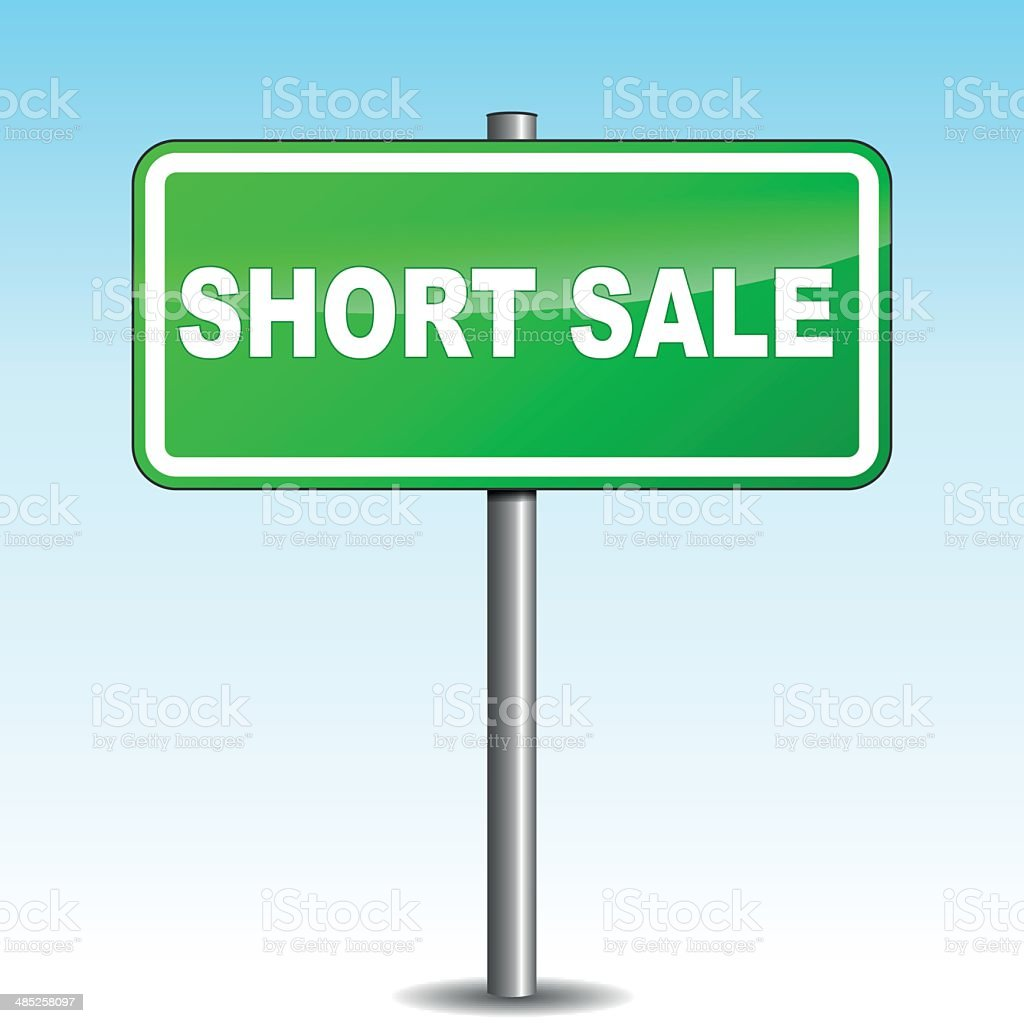 Vector short sale signpost vector art illustration