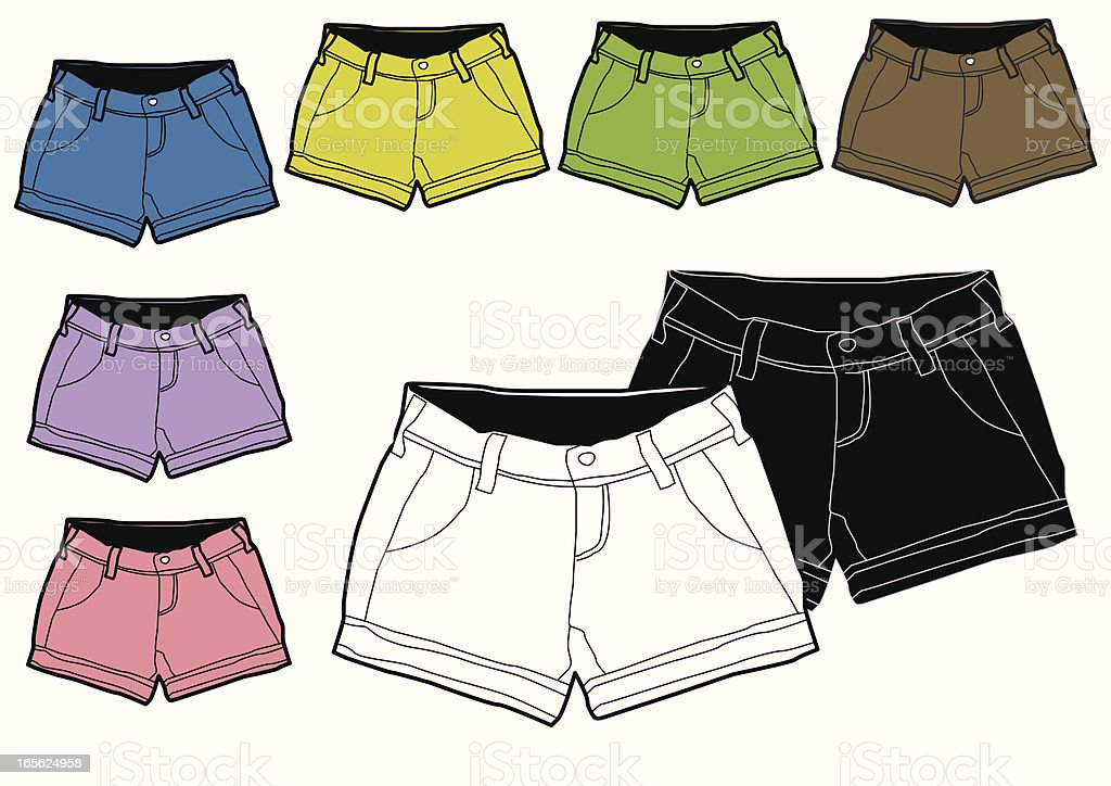 vector shorts vector art illustration