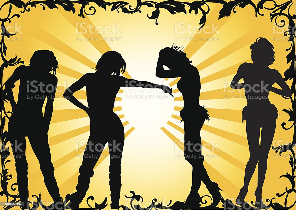 Vector Showgirl Silhouette royalty-free stock vector art