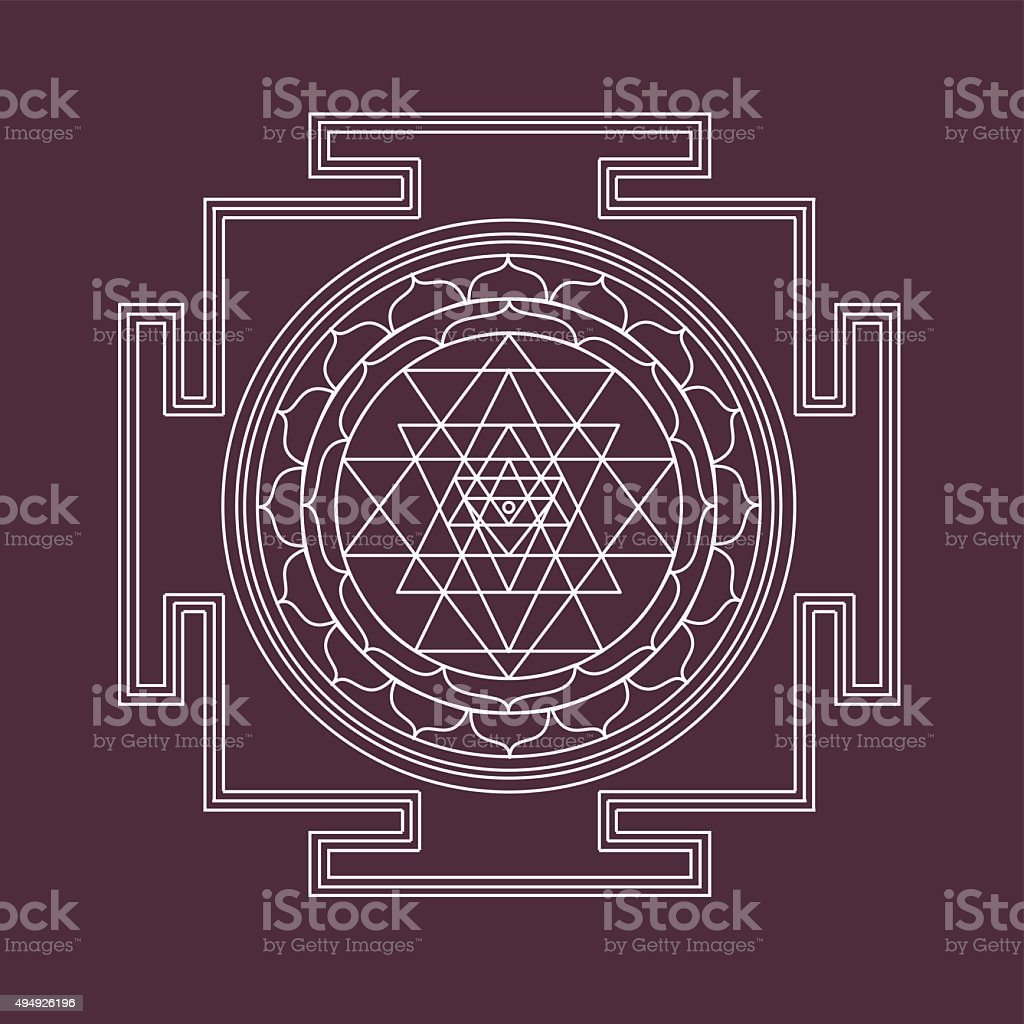Vector shri yantra vector art illustration