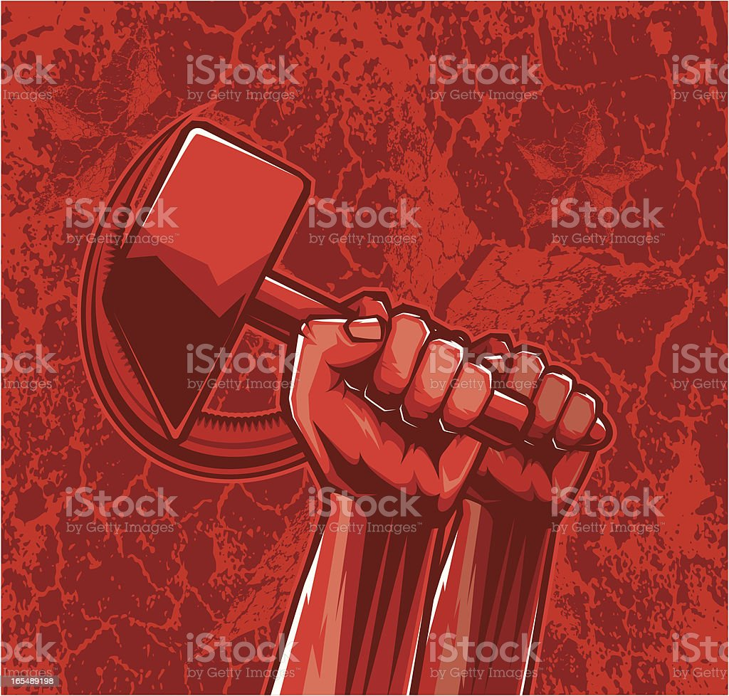 vector sickle&hammer royalty-free stock vector art